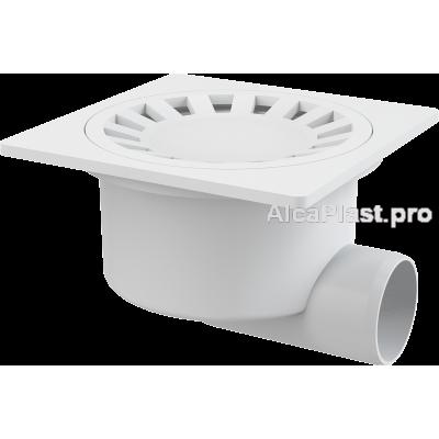 Зливний трап Alcaplast APV15, 150x150 / 50мм, бічний відвід, гідрозатвор мокрий