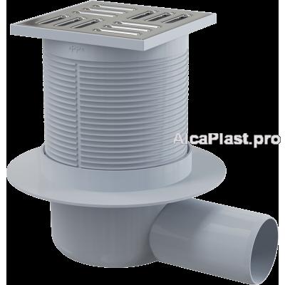 Зливний трап Alcaplast APV1, 105x105 / 50мм, бічний відвід, гідрозатвор мокрий