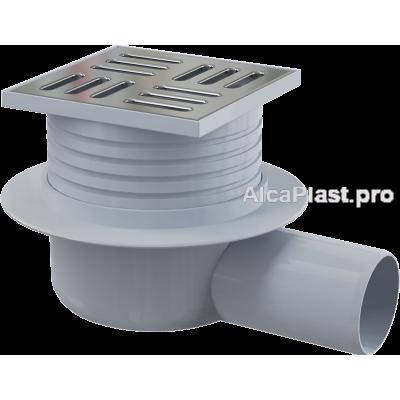 Зливний трап Alcaplast APV26, 105x105 / 50мм, бічний відвід, гідрозатвор мокрий