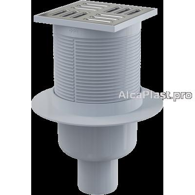 Зливний трап Alcaplast APV2, 105x105 / 50мм, прямий відвід, гідрозатвор мокрий