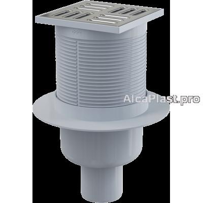 Зливний трап Alcaplast APV32, 105x105 / 50мм, прямий відвід, гідрозатвор комбінований SMART
