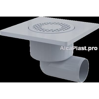 Зливний трап Alcaplast APV3, 150x150 / 50мм, бічний відвід, гідрозатвор мокрий