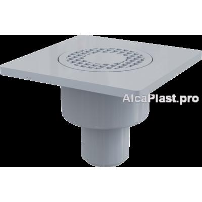 Зливний трап Alcaplast APV4, 150x150 / 50мм, прямий відвід, гідрозатвор мокрий