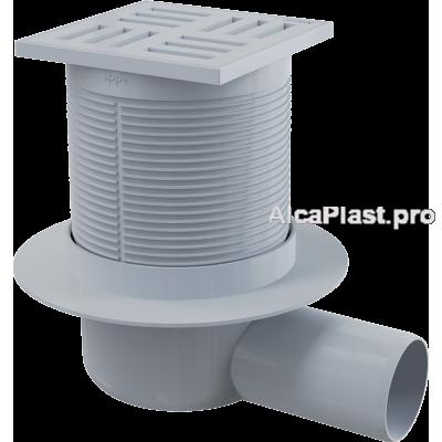 Зливний трап Alcaplast APV5111, 105x105 / 50мм, бічний відвід, гідрозатвор мокрий