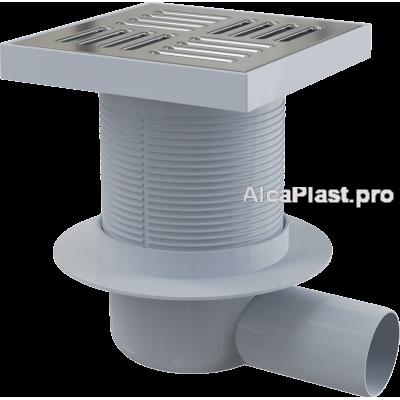 Зливний трап Alcaplast APV5411, 150x150 / 50, бічний відвід, гідрозатвор мокрий