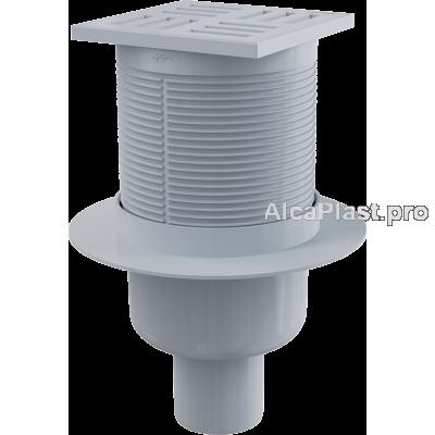 Зливний трап Alcaplast APV6111,105x105 / 50мм, прямий відвід, гідрозатвор мокрий