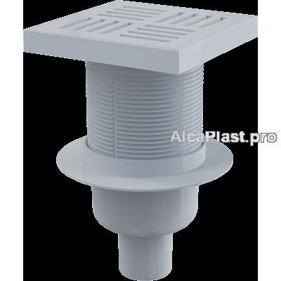 Зливний трап Alcaplast APV6211, 150x150 / 50мм, прямий відвід, гідрозатвор мокрий