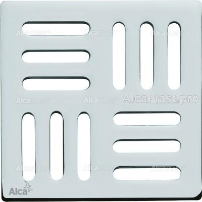 Дизайнова решітка 102 × 102 × 5 нержавіюча сталь AlcaPlast MPV001