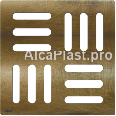 Дизайнова решітка 102 × 102 × 5 латунь під бронзу AlcaPlast MPV001-ANTIC