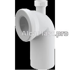 Коліно для унітазу 90° з прієднанням d40 AlcaPlast A90-90P40