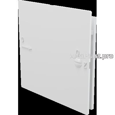 Дверцята AlcaPlast AVD001 для ванної під плитку 150x150, Біла