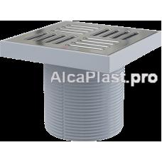Горловина зливного трапа, Решітка 150х150, нержавіюча сталь Alcaplast APV0400