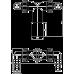 Коліно Alcaplast P155Z з двома штуцерами DN40 /32 17-23