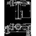 Коліно Alcaplast P156Z з двома штуцерами DN40 / 32 8-23