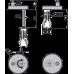 Тримач петель P97 і P98 з дюбелем для монтажу зверху Alcaplast P105