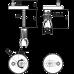Тримач петель P97 і P98 з дюбелем для монтажу зверху, пластикова кришка Alcaplast P105B