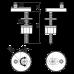 Тримач петель P97 і P98 для монтажу зверху, пластикова кришка Alcaplast P106B