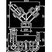 """Коліно з двома штуцерами G1""""/ 8-23 Із зворотними клапанами Alcaplast P149Z"""
