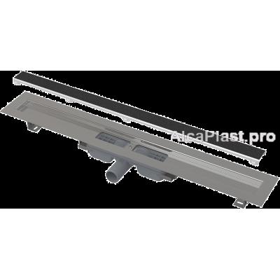 Водовідвідний жолоб AlcaPlast APZ115-1050 Marble з порогами для перфорованої решітки