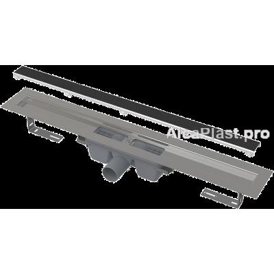 Водовідвідний жолоб AlcaPlast APZ15-750 Marble без порогів з гратами під кладку плитки