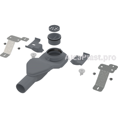 Екстра низький сифон AlcaPlast APZ-S6 в комплекті з регульованими ногами