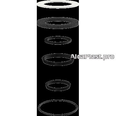 Комплект запасних прокладок до сифону для мийки AlcaPlast Alcaplast P067