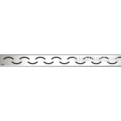 Водостічна решітка AlcaPlast SMILE-850L глянсова, 850мм