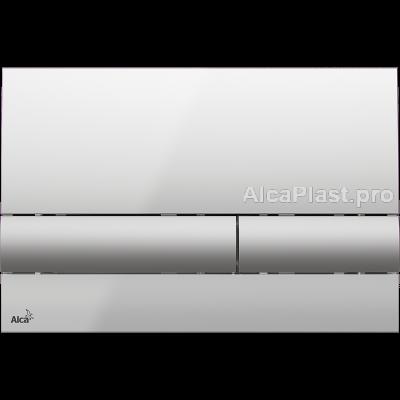 Кнопка управління AlcaPlast M1713 хром-глянсова / матова