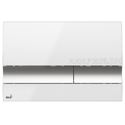 Кнопка управління AlcaPlast M1720-1 біла / хром - глянсова