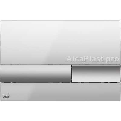 Кнопка управління AlcaPlast M1743 матова / хром глянцевий