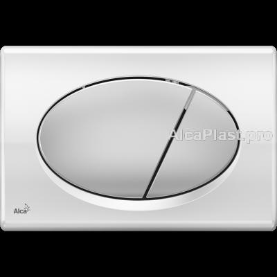 Кнопка управління AlcaPlast M73 хром-блискуча / матова