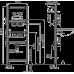 Інсталяція AlcaPlast A104A/1120 для умивальника