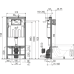 Інсталяція AlcaPlast AM101/1120 з хромованою кнопкою AlcaPlast M71 і Унітаз підвісний Villeroy&Boch O.Novo 5660HR01 безобідковий