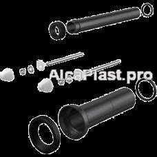 Комплект приладдя до унітазу з подовженими деталями для людей з обмеженими фізичними можливостями AlcaPlast M9000