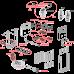 Прихована система інсталяції AlcaPlast AM115/1000E Renovmodul для підвісного унітазу для замуровування в стіну