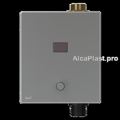 Автоматичний пристрій змиву AlcaPlast ASP3-KT для унітазу з можливістю мануального змиву, нержавіюча сталь, 12 V (живлення від мережі)