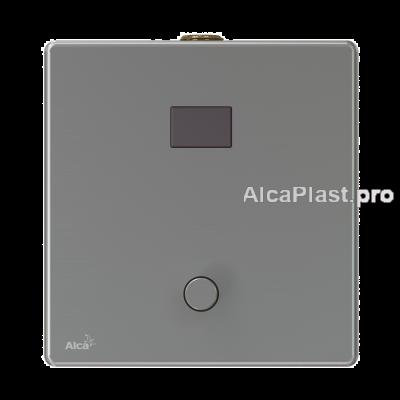 Автоматичний пристрій змиву AlcaPlast ASP4-KT для пісуара з можливістю мануального змиву, нержавіюча сталь, 12 V (підключення до мережі)